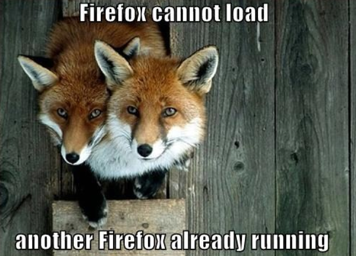 two firefoxes? cannot load, already running.png
